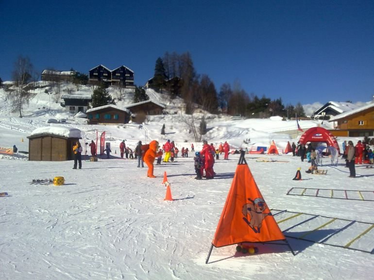 kinderpiste in Vercorin